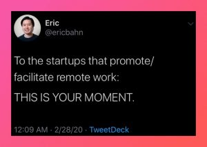 Remote workers this is your moment
